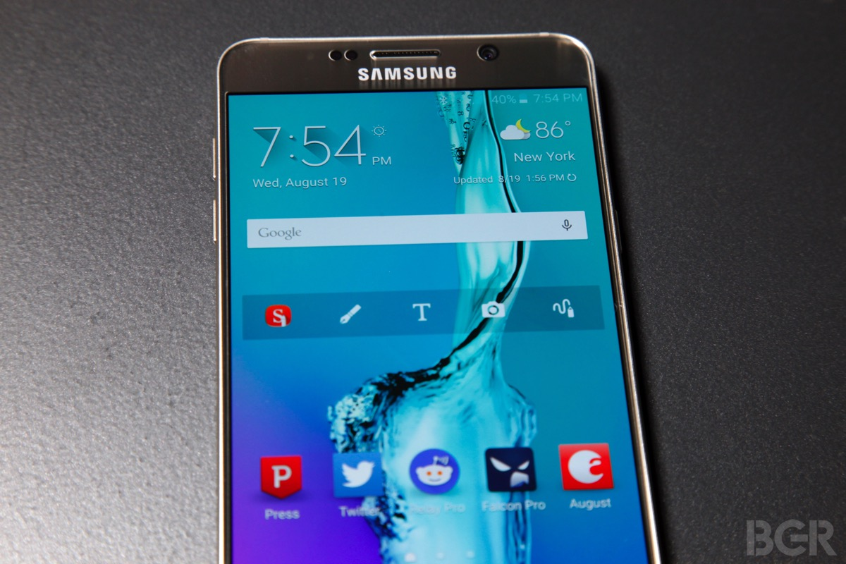 Video shows the Galaxy Note 5 can't keep up with the iPhone 6 despite superior hardware