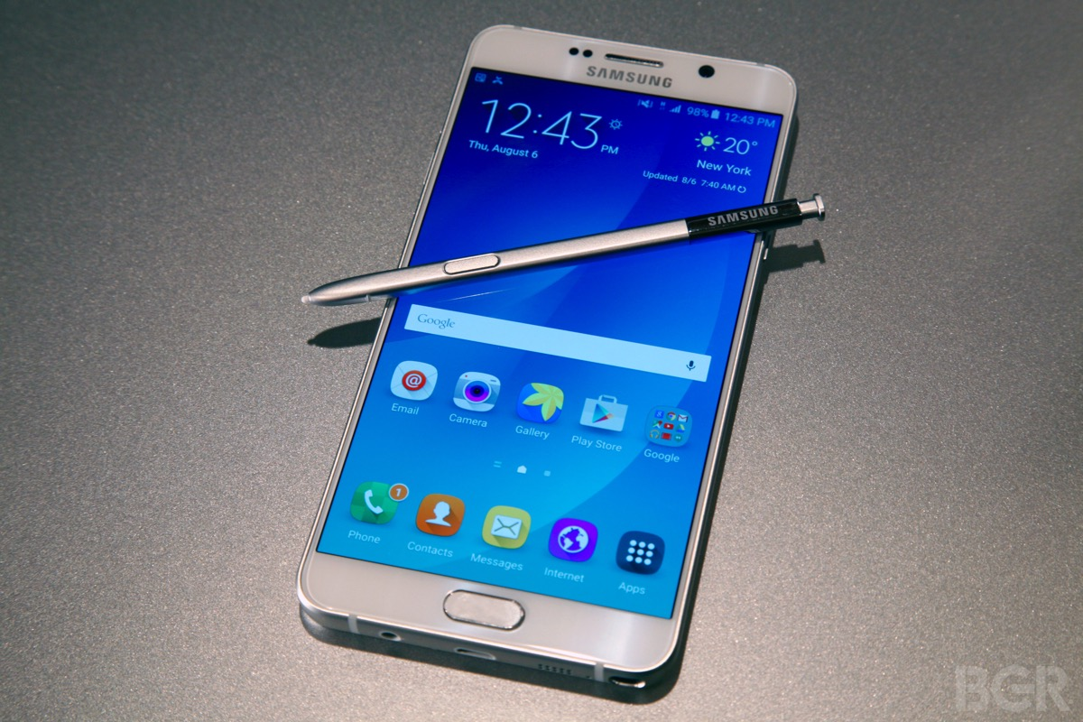 Galaxy Note 5 drop test video shows phone's glass will ...