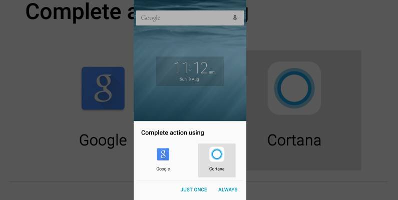 Cortana Google Now Android Voice Assistant