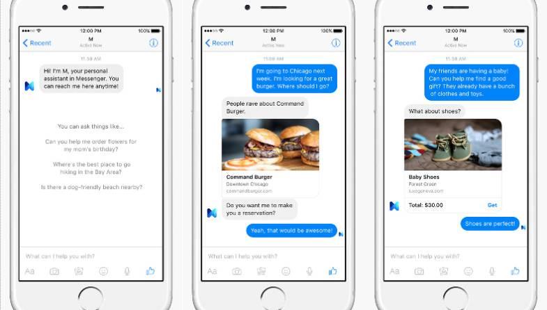 Facebook Messenger M Virtual Assistant