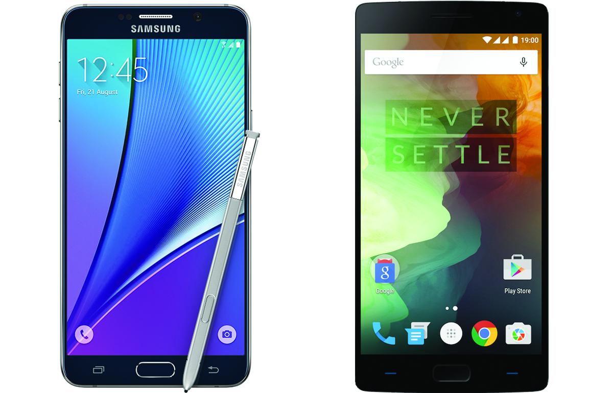 Galaxy Note 5 vs OnePlus 2