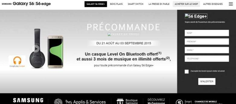 Galaxy S6 edge Plus Release Date Preorder Price