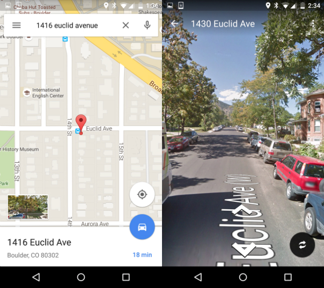 Google Maps For Android Update Street View Feature