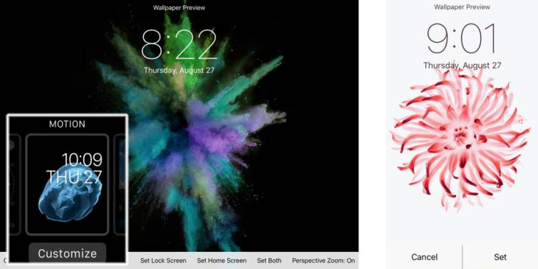 iPhone 6s Plus Animated Motion Wallpapers