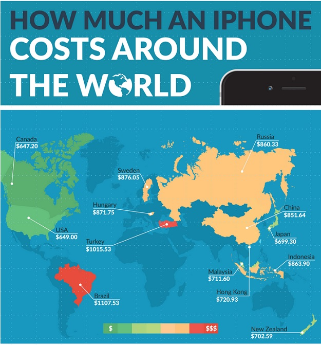 how much do iphones cost how much an iphone costs across the world bgr 17041