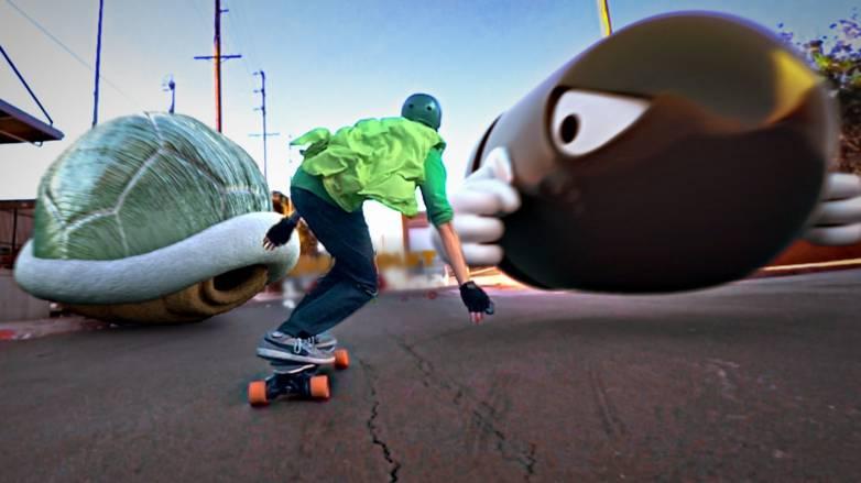 Mario Skate Video Corridor Digital