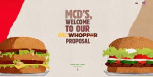 Burger King McDonalds McWhopper Proposal
