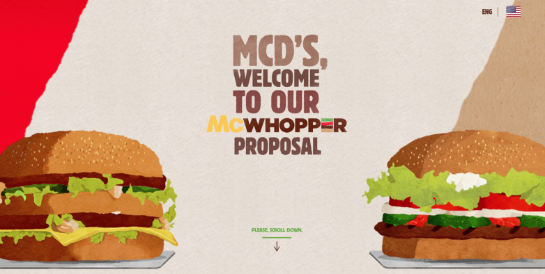 Burger King McDonalds McWhopper Proposal