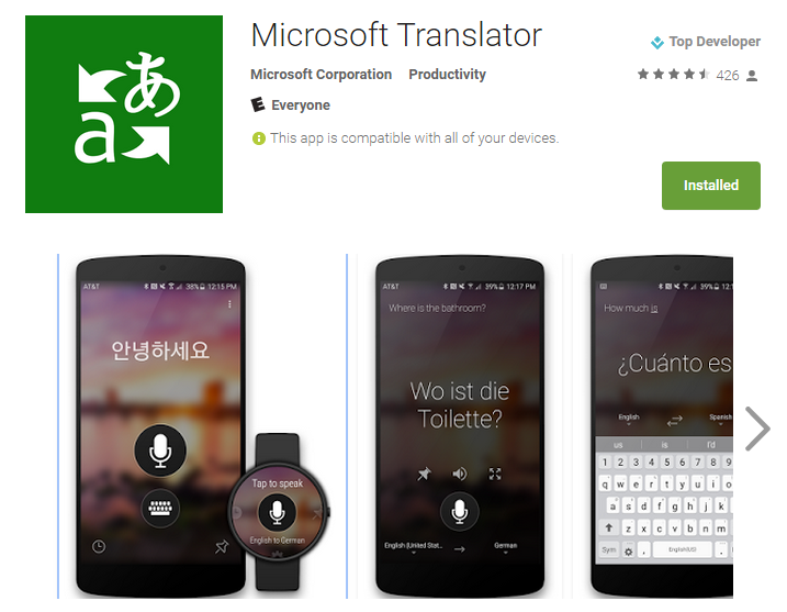 Best Android Apps Microsoft Translator