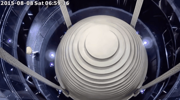 Typhoon Moving Skyscraper Mass Damper Video