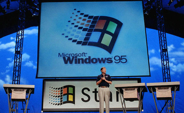 Microsoft Windows 95 launch