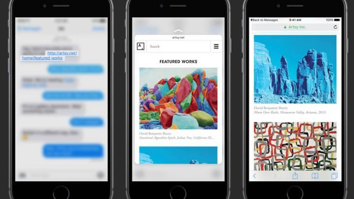 iPhone 6s 3D Touch Peek Pop