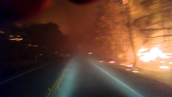 California Wildfire First Person Video
