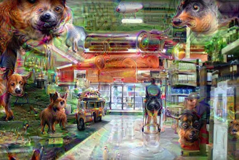 Google Deep Dream Grocery Store Video