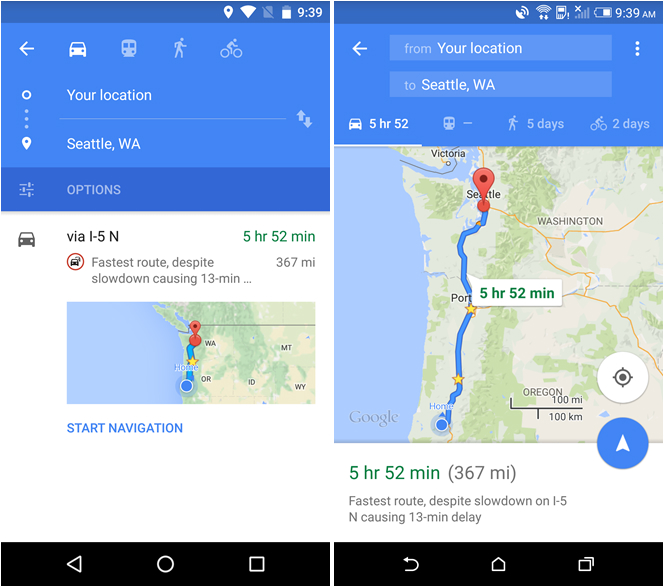 Google Maps Android iPhone Offline Navigation