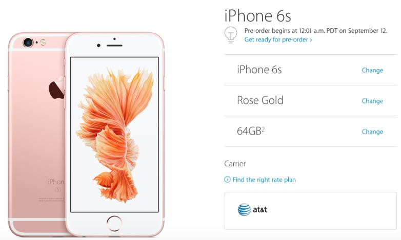iPhone 6s Plus Preorder Time Now Live