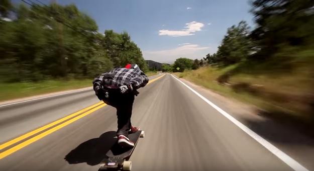 Longboard Highway Stunt