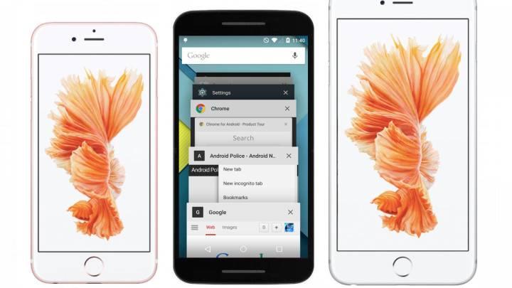Nexus 5X iPhone 6s Photos