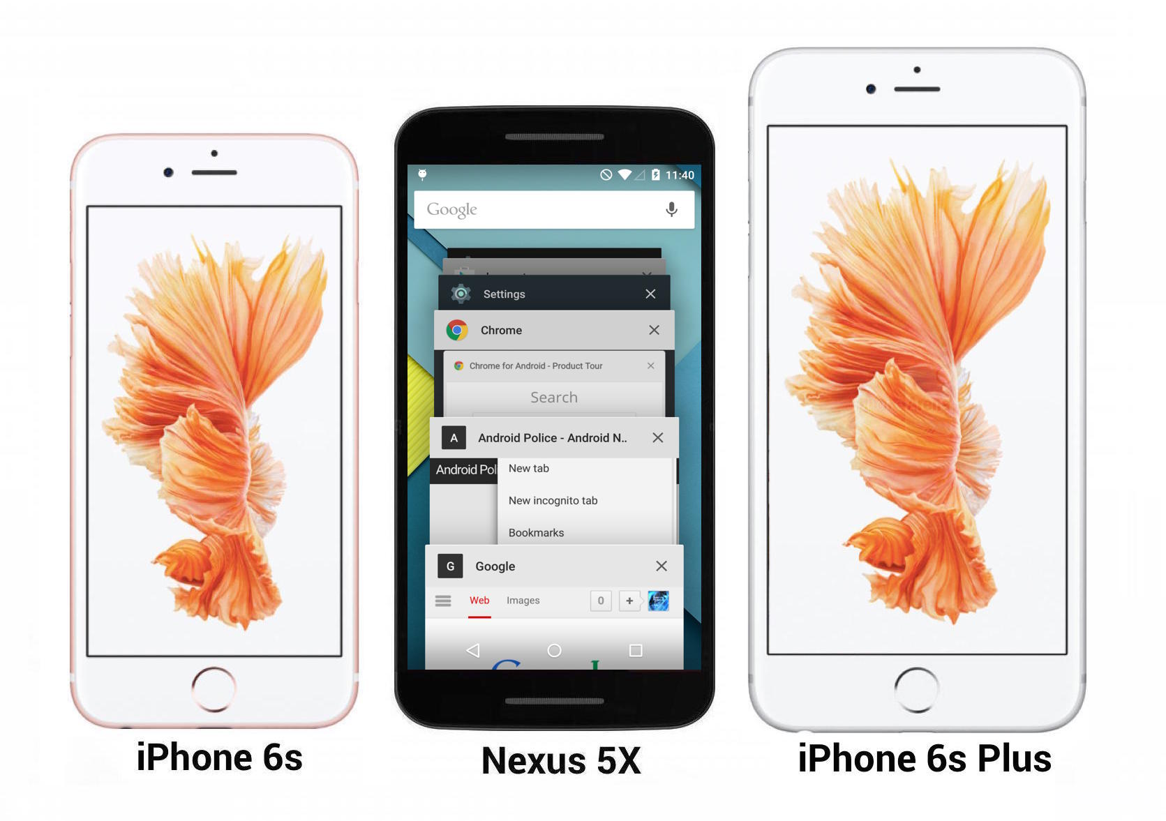 nexus 5 vs iphone 6 new nexus 5x photos leak size compared to iphone 6s and 17862