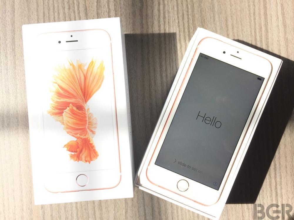rose gold iphone 6s unboxing pictures bgr. Black Bedroom Furniture Sets. Home Design Ideas