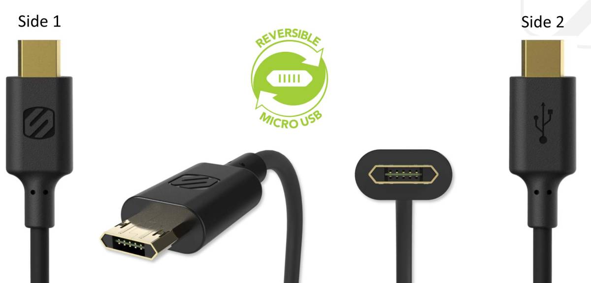 Reversible Micro USB Cable