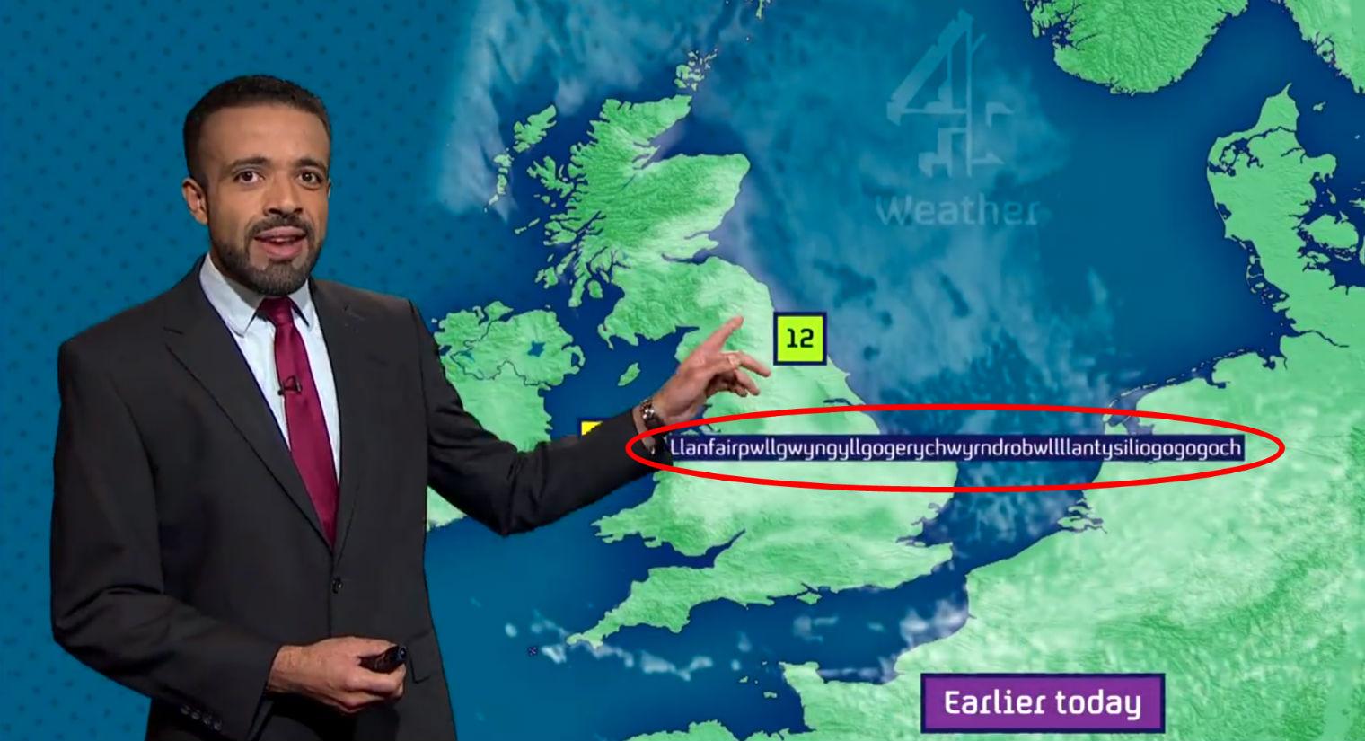 World's Longest Place Names Weather Man