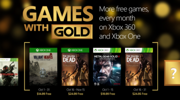 Xbox Games with Gold October 2015