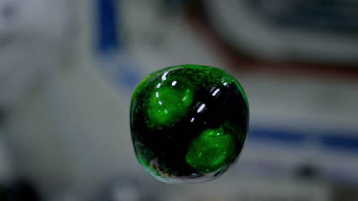 4K Video Space ISS Zero-gravity Water