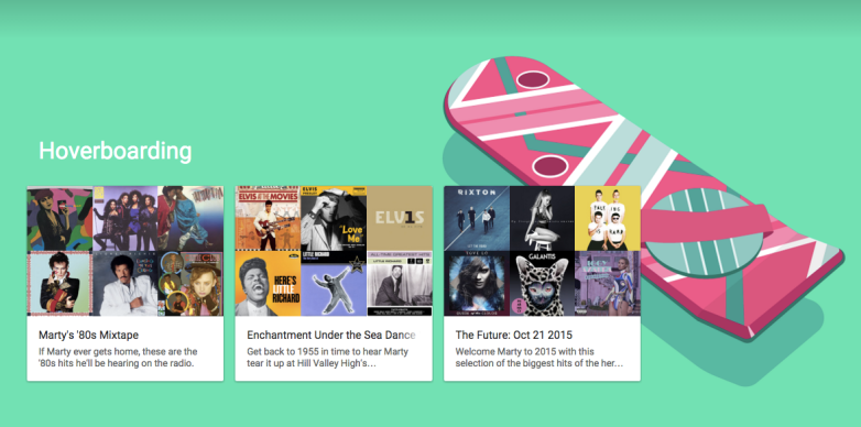 Google Play Music Back to the Future