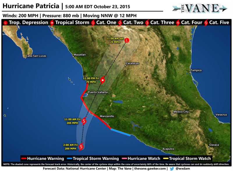 Hurricane Patricia Tropical Cyclone Wind Speed