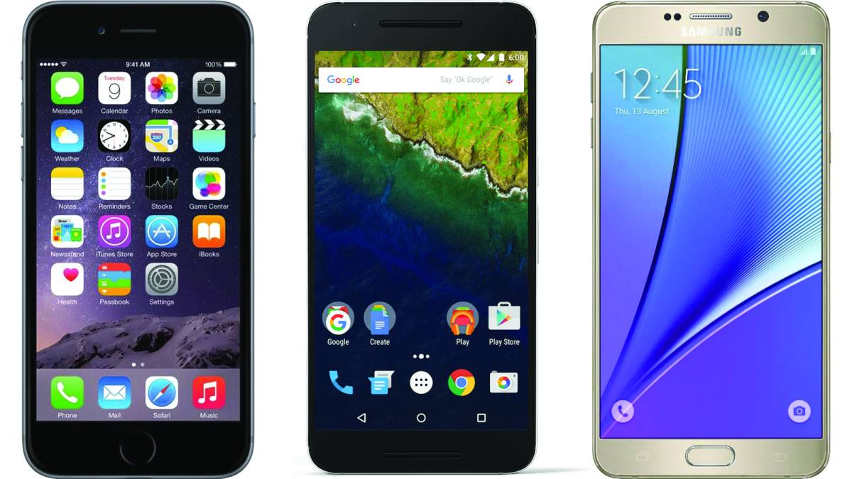 iPhone 6s vs Nexus 6P vs Galaxy S6 Specs
