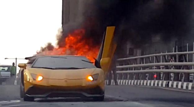 Lamborghini Crash Video