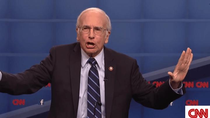 Larry David Bernie Sanders SNL Video
