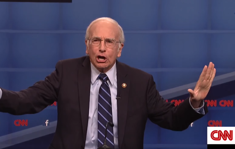 Larry David Bernie Sanders SNL Video
