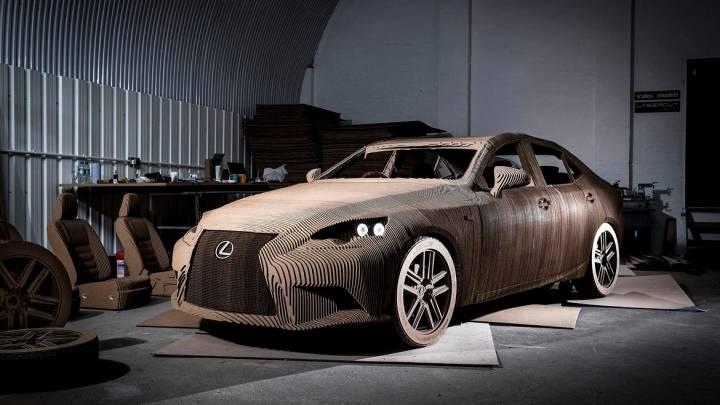 Lexus IS Origami Car Cardboard Video
