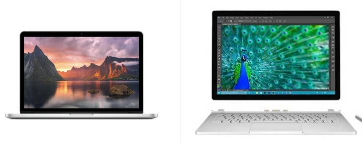 Surface Book MacBook Pro Specs