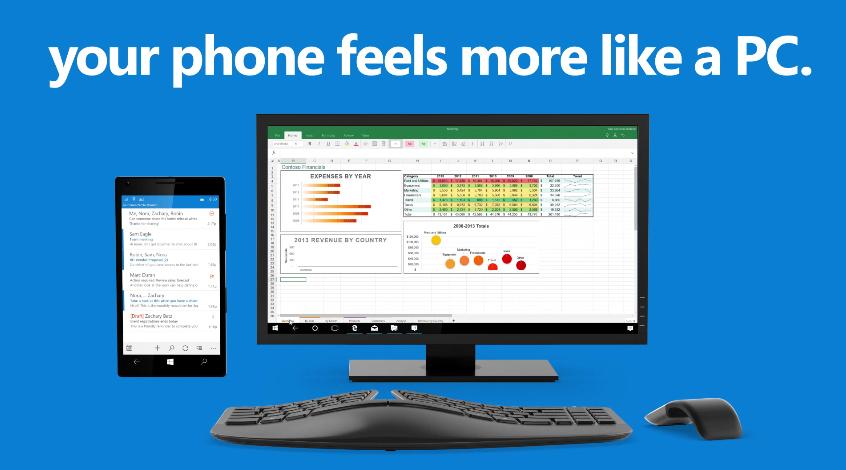 Windows 10 Continuum iPhone 6s Nexus 5X