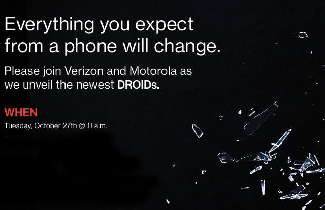 Motorola Verizon Droid Event October 27th