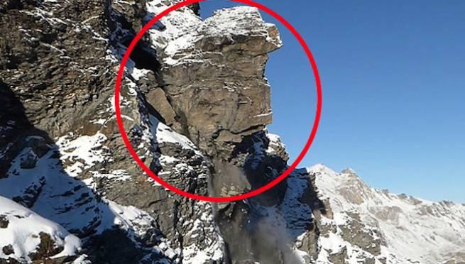 Swiss Alps Mountain Plummets