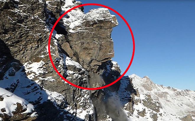 Swiss Alps Mountain Plummets