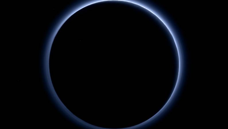 Pluto Blue Sky Frozen Water