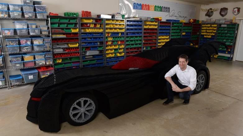 Nathan Sawaya Batmobile Model 500,000 LEGOs