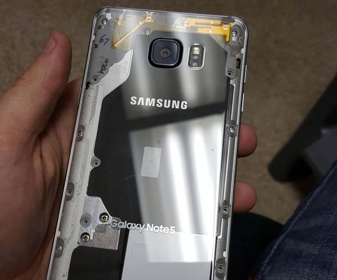 Galaxy Note 5 Transparent Rear Cover