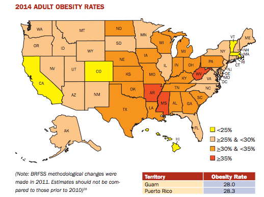 Most and Least obese states: A ranking of which states are healthiest ...