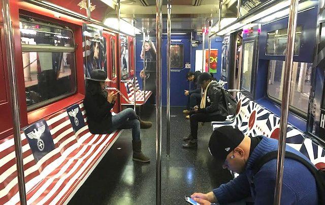 Amazon Nazi Symbols NYC Train