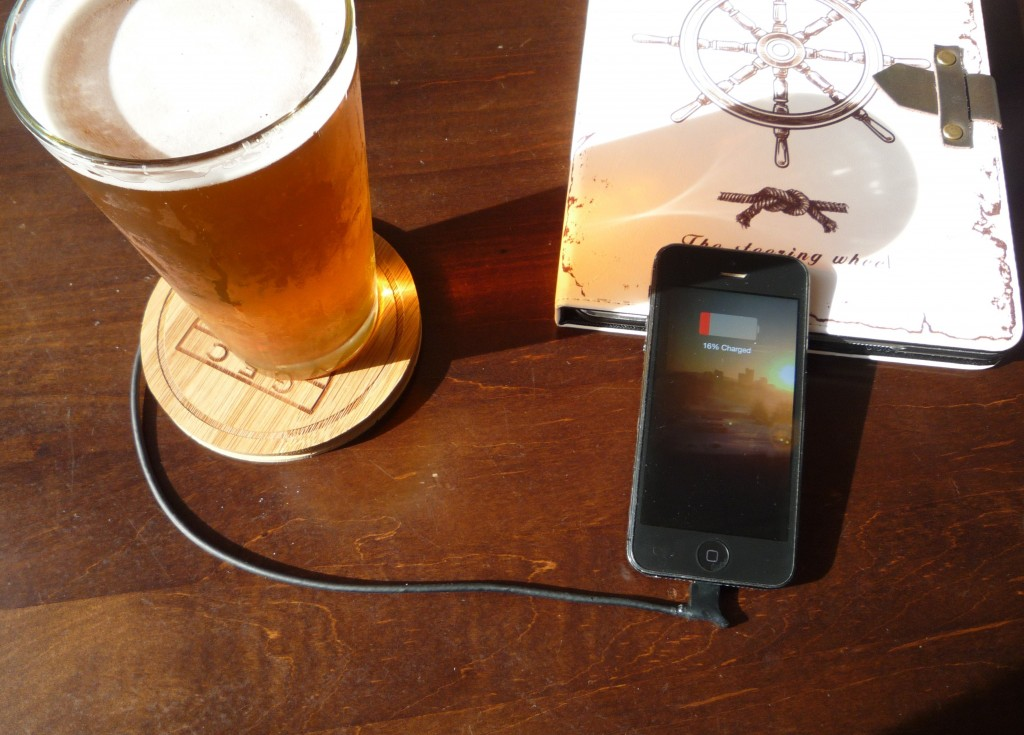 ChefCharger Smartphone Charger Beer Coaster