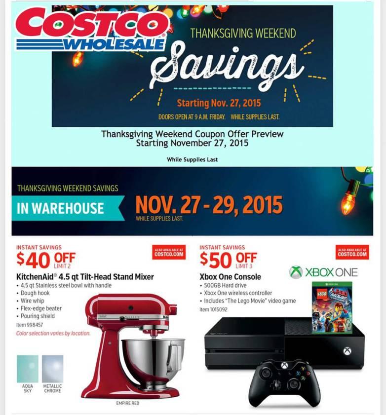 Costco Full Black Friday Ad Leaked