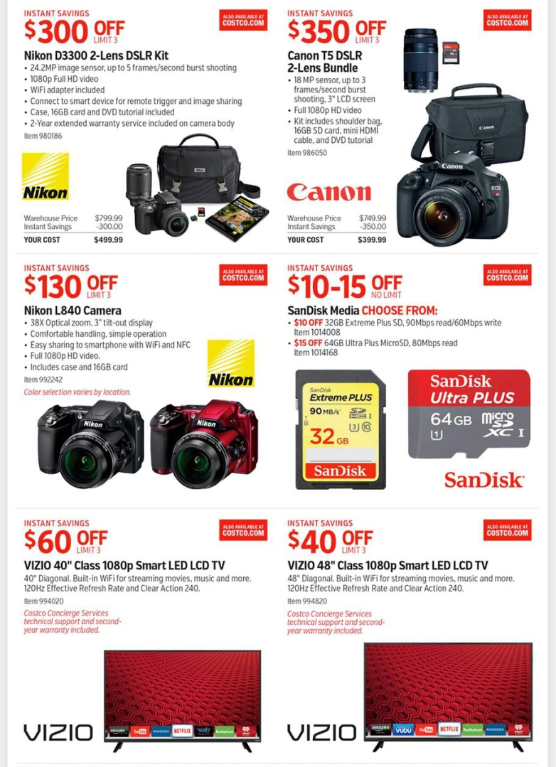 Camera Costco Dslr Camera Deals costcos full black friday 2015 ad leaked everything you need to image source costco 3