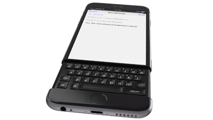 iPhone 7 Concept BlackBerry Keyboard