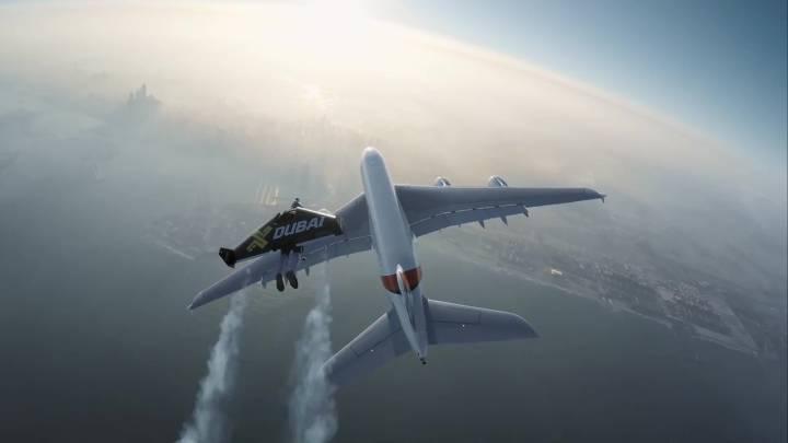 Jetmen Airbus A380 Flight